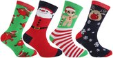 FLOSO Childrens/Kids Christmas Character Novelty Socks (Pack Of 4)