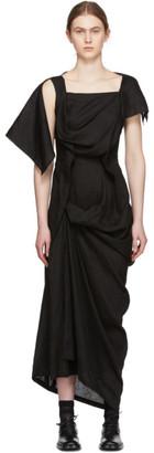 Yohji Yamamoto Black Draping Summer Dress