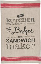 Now Designs Linen Teatowel, Butcher Baker Sandwich Maker