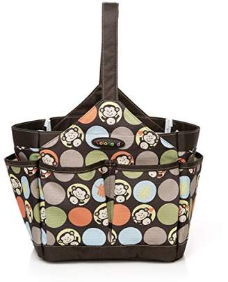 COLORLAND Emilia Water Resistant Baby Care Kitbag/Feeding Bath Organiser, Brown Cheeky Chimps