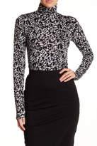 Loveappella Cheetah Print Knit Turtleneck