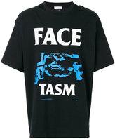 Facetasm open-back printed T-shirt - men - Cotton - One Size