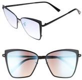 Women's Diff Becky 57Mm Sunglasses - Black/ Grey