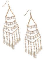 Pearly Chandelier Earrings