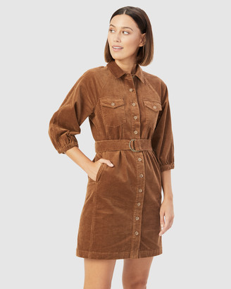French Connection Women's Dresses - Corduroy Puff Sleeve Dress - Size One Size, 16 at The Iconic