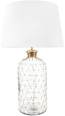 nuLoom 31In Adri Glass Cotton Shade Table Lamp