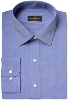 Club Room Estate Men's Classic-Fit Wrinkle Resistant Indigo End on End Solid Dress Shirt, Only at Macy's
