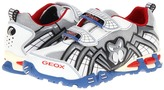 Geox Kids - Jr Light Eclipse 12 (Big Kid) (White/Lt Blue) - Footwear