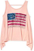 Jessica Simpson American Flag Graphic-Print Tank Top, Big Girls (7-16)