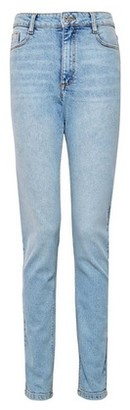 Dorothy Perkins Womens **Tall Blue Light Wash Mom Jeans, Blue