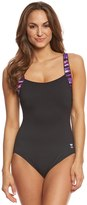 TYR Women's Bellvue Stripe Square Neck Controlfit One Piece Swimsuit 8150960