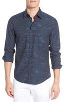BOSS ORANGE Men's 'Enamee' Extra Trim Fit Jacquard Woven Shirt