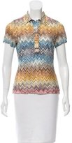 Missoni Chevron Button-Up Top