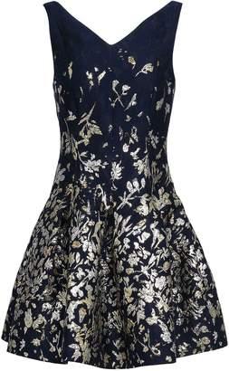 Oscar de la Renta Cutout Metallic Jacquard Mini Dress