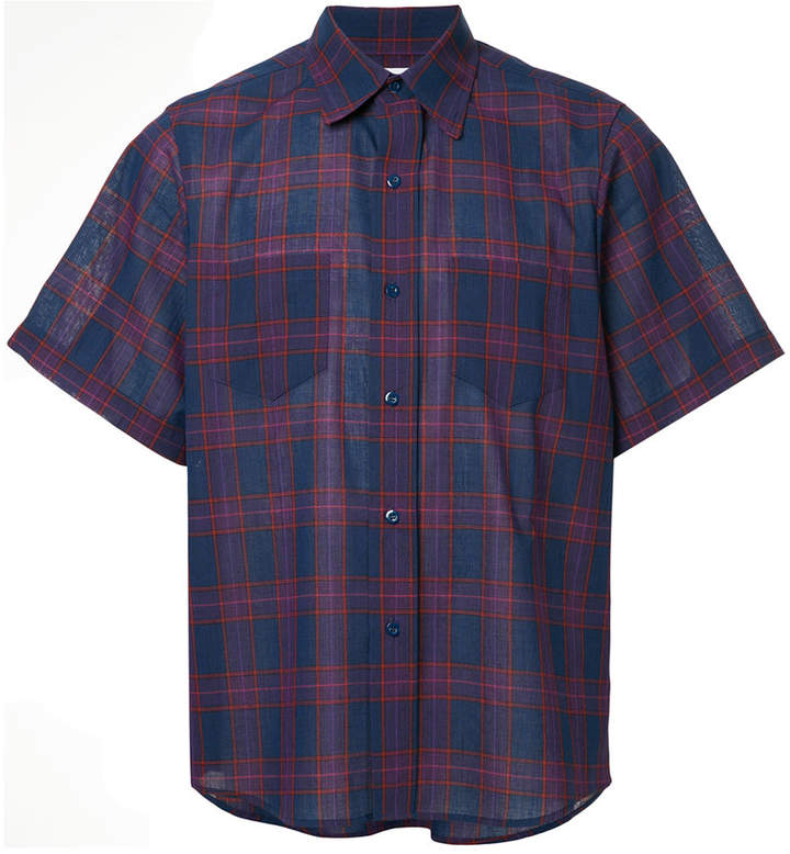 Facetasm plaid short-sleeve shirt