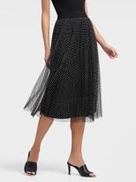 DKNY Skirt With Mesh Overlay