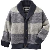 Osh Kosh Boys 4-7x Striped Shawl Cardigan Sweater