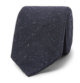 Drakes Drake's - 8cm Mélange Stretch Wool-blend Tie - Navy