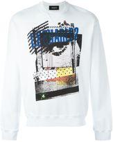 DSQUARED2 graffiti eye logo sweatshirt