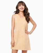 Charming charlie Faux Suede Trapeze Dress