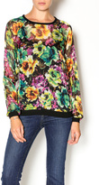 KUT from the Kloth Floral Sheer Top