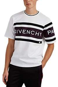 Givenchy Men's Logo Colorblocked Cotton Jersey T-Shirt - White