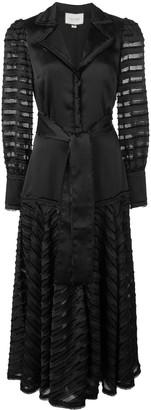 Alexis Juliska sheer-panelled dress