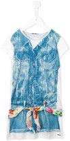 Junior Gaultier denim playsuit print T-shirt dress