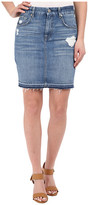 7 For All Mankind Mini Pencil Skirt w/ Released Hem & Destroy