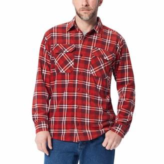 Wrangler Authentics Men's Long Sleeve Plaid Fleece Shirt