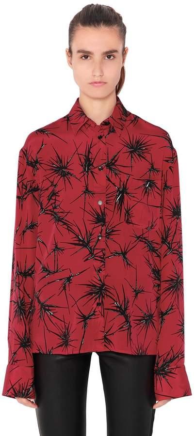 Haider Ackermann Oversize Printed Silk Shirt