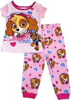 Nickelodeon Paw Patrol Little Girls' Skye Short Sleeve Snug Fit Pajama Set