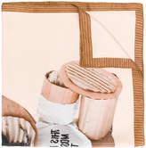 Moschino toy bear motif scarf