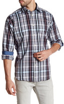 Thomas Dean Long Sleeve Woven Pattern Shirt