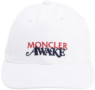 MONCLER GENIUS Awake Nyc Cotton Logo Cap