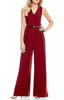 Sugar Lips Sugarlips V-Neck Wide Leg Jumpsuit