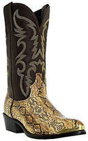 """Laredo Boots Men's Brown with Snake Print 12"""" Cowboy Boots"""