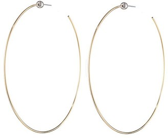 Jenny Bird Icon Hoops - Medium, 14k Gold/Rhodium Brass