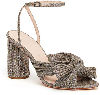 Loeffler Randall Camellia Knotted Ankle-Strap Sandals