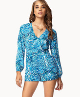 Forever 21 Abstract Surplice Romper