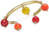 Kate Spade Gold-Tone Multicolor Bead Cuff Bracelet