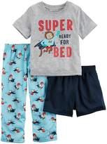Carter's Boys' 2T- 3-Piece Super Ready Pajama Set