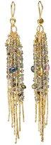 Natasha Collis 18kt yellow gold fringe 'Treasure' earrings
