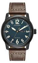 Citizen Eco-Drive Men's Chandler Leather Watch - BM8478-01L