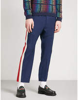 Gucci Side-stripe Wool-blend Jogging Bottoms