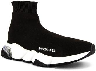Balenciaga Speed Light Sneaker in Black & White & Clear | FWRD