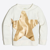 J.Crew Factory Girls' foil star sweatshirt