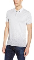 Calvin Klein Men's Jacquard Polo with Engineered Print