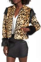 Leith Mixed Media Faux Fur Jacket
