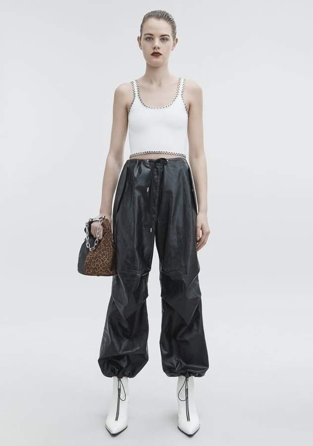 Alexander Wang FAUX LEATHER PANT PANTS